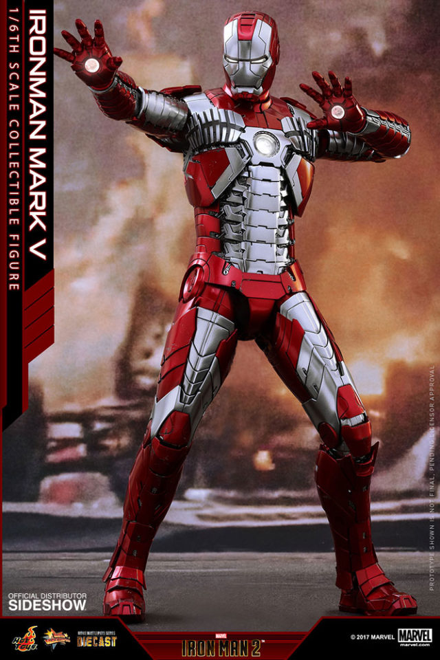 Die-Cast Hot Toys Iron Man Mark 5 Figure 2017